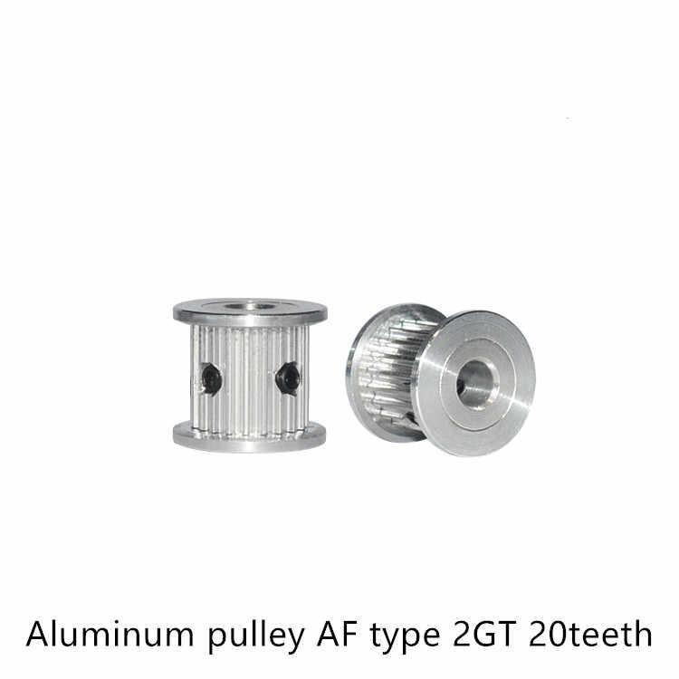 AFประเภท20ฟันGT2 Timing Pulleyเจาะ4Mm 5Mm 6Mmสำหรับเข็มขัดในLinear 2GTรอก20ฟัน20 T