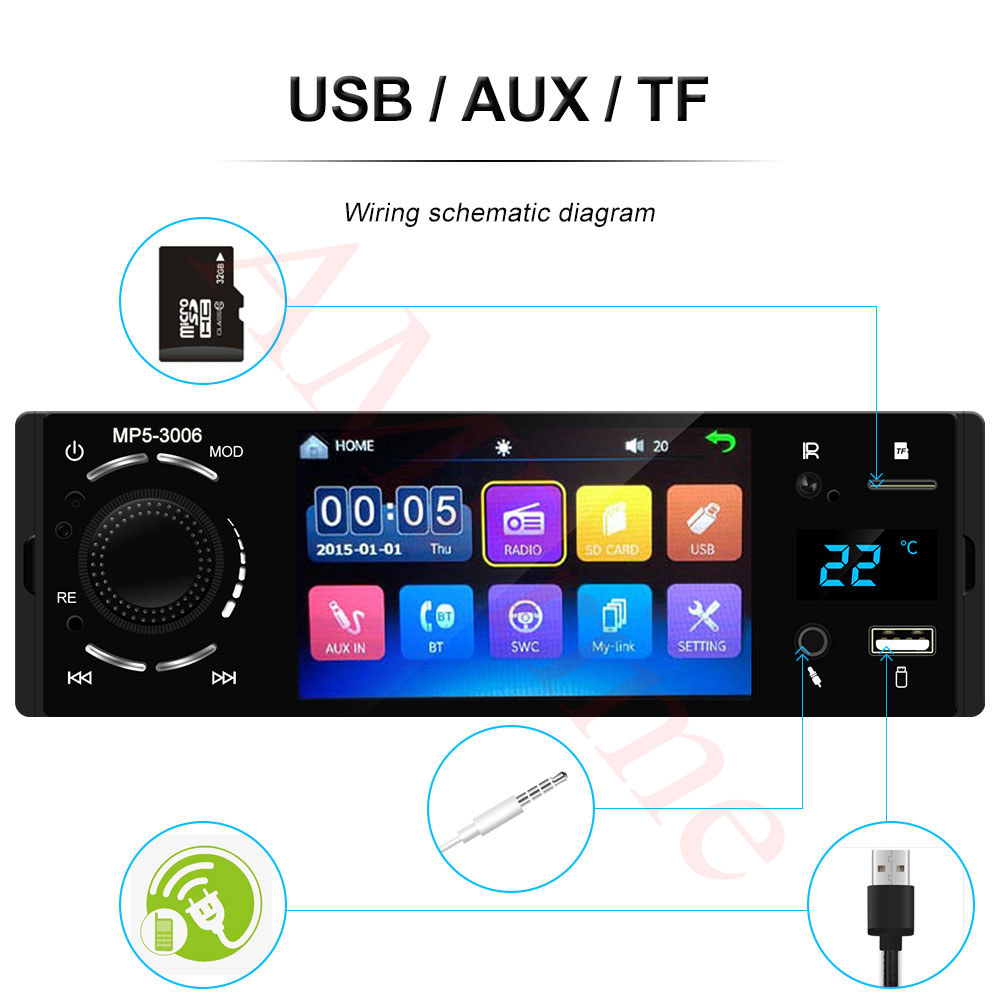 fotografica screen usb mirrorlink 10