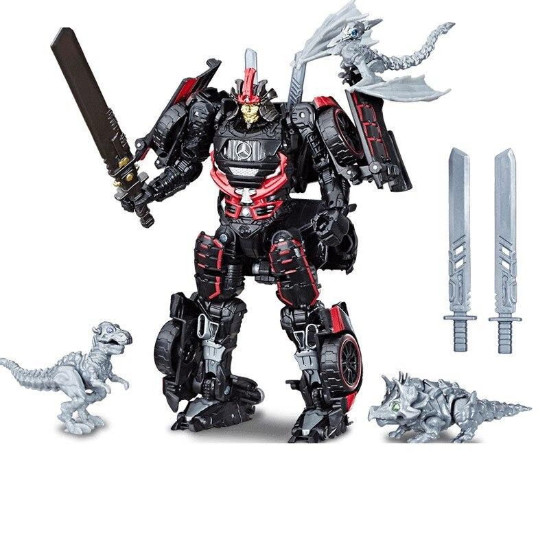 Série de estúdio figura ação deriva carro robô com 3 mini dinobot clássico brinquedos para meninos crianças ss36