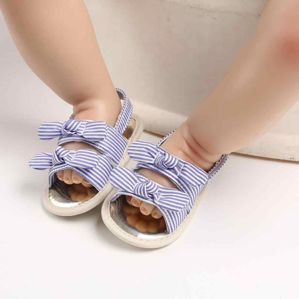 Sandali Del Bambino Infantile Del Bambino Della Ragazza Morbida Suola Applique Sandali Scarpe Singolo Scarpe Arco Della Banda Blu Paillettes Sandali Детская Обувь 4