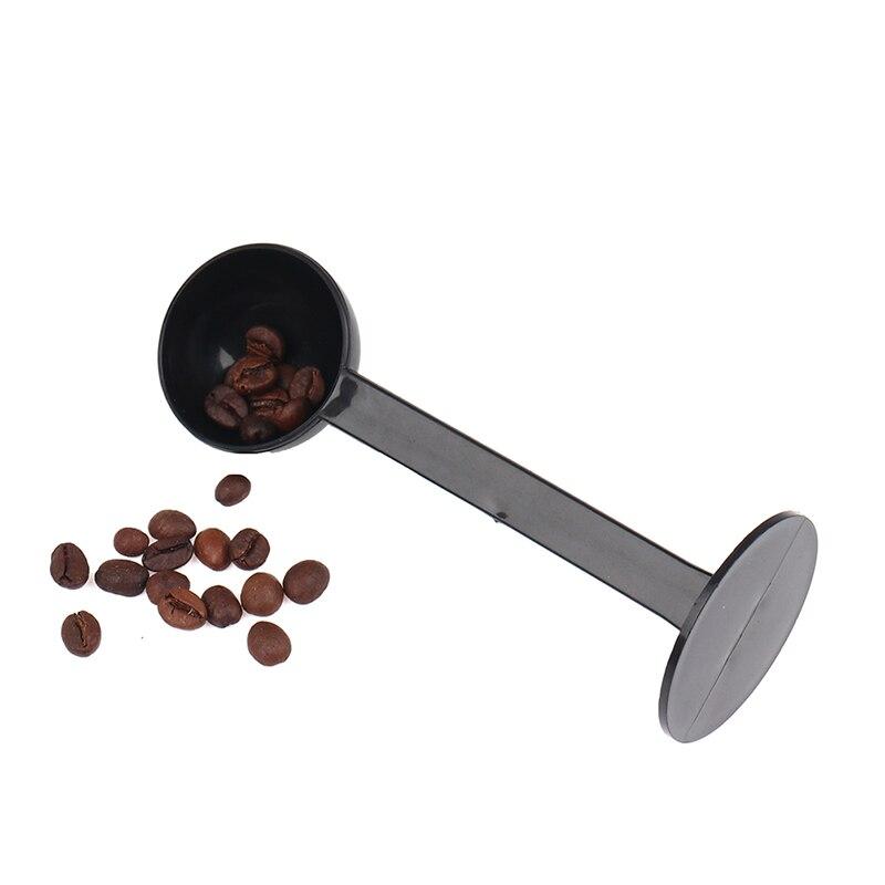 Tamping Scoop 2 In 1 For Coffee Powder Coffeeware Measuring Tamper Spoon Plastic Black Kitchen Accessories