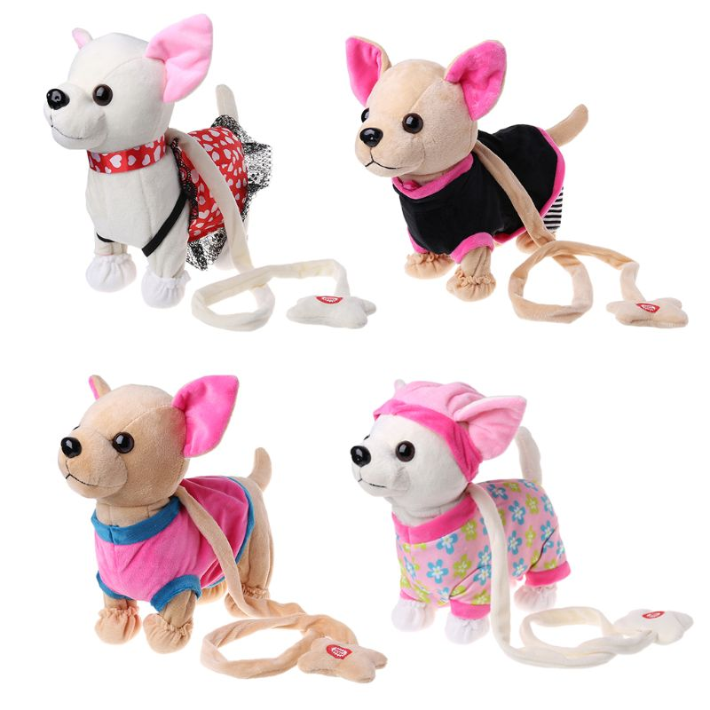 Electronic Pet Robot Dog Zipper Walking Singing Interactive Toy With Bag For Children Kids Birthday Gifts R7RB
