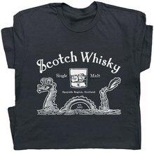 Scotch Whisky T Hemd Loch Ness Monster Irish Bourbon Schottland Absinth Dive Bar Harajuku Tops Mode Klassischen T-shirt