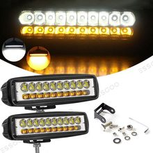 6 Cal Led światło robocze 60W Combo żółty i biały reflektor roboczy IP68 wodoodporna lampa dla SUV Off-Road światła samochodów ciężarowych 12V /24V