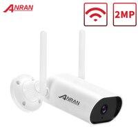 ANRAN-cámara de seguridad IP inalámbrica, dispositivo de vigilancia con Audio bidireccional, IR, Bullet, Wifi, soporte para exteriores, Onvif, 2MP/5MP