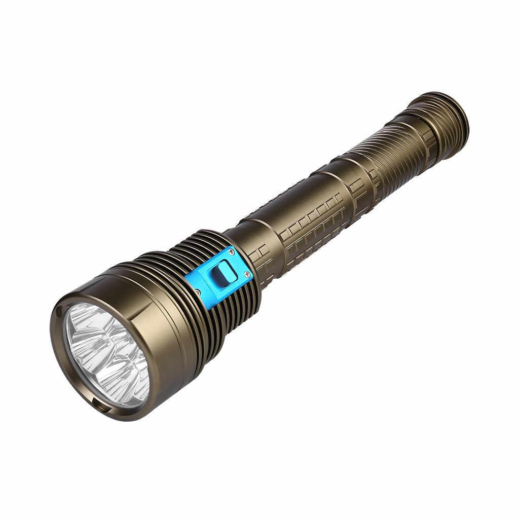 Водонепроницаемый 7x T6 светодиодный фонарь для подводного велосипеда Фонарик подводный 100 м фонарь 3x18650 Водонепроницаемый помолвочный с двойным уплотнением # g40