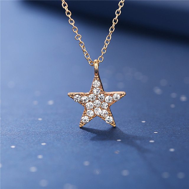 17KM Vintage Moon Star Sun Necklaces For Women Ladies Crystal Gold Pendant Necklace 2020 New Design Choker Fashion Jewelry Gift 5
