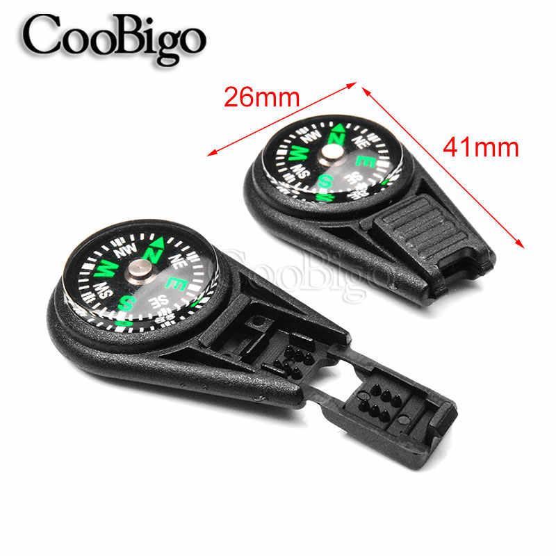 5 sztuk kolorowe Mini kompas survivalowy dla 2mm Paracord liny brelok plecak torba Camping piesze wycieczki obóz narzędzia zewnętrzne