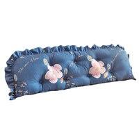 Pp algodão sólido travesseiro cama removível almofada lombar decoração para casa cabeceira travesseiro 100x12x53cm monden dropshipping s25