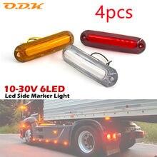 4pcs 6 SMD LED Side Marker Lights Car External Lights Indicators Warning Tail Light Trailer Truck Lorry Boat Lamp12V / 24V