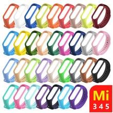 Sangle Pour Mi band 4 5 6 Correa miband4 miband5 miband3 Remplacement Silicone Intelligent Bracelet Xiaomi mi band 5 4 3 Sangle