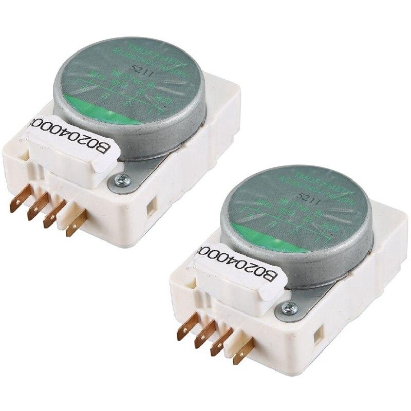 2Pcs Refrigeration Accessories for Refrigerator Defrost Timer TMDF704ED1 Defrosting Timer