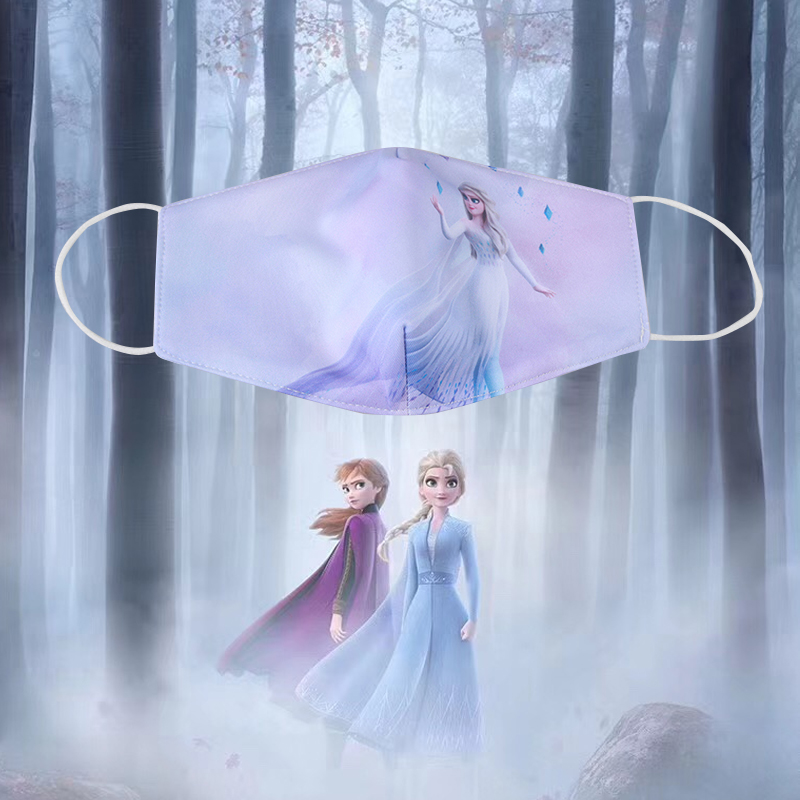 3Pcs Adult Kids Dust Mask Snow Ice Princess  Face Mask Anti Dustproof Breathable /fog /Haze Mask Mouth Anti Washable Reusab