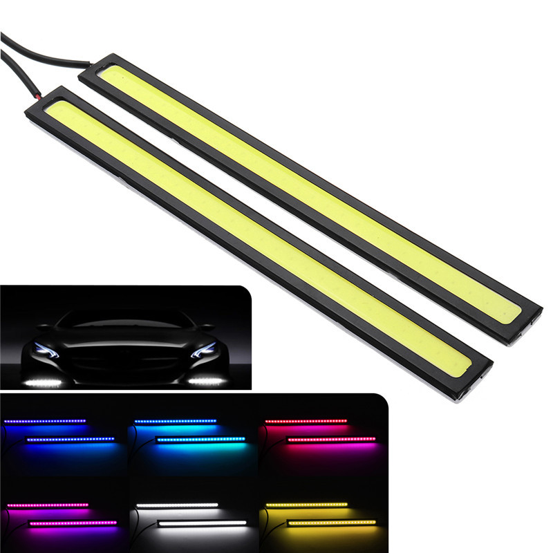 17cm COB LED Daytime Running Strip Light DRL Car Driving Fog Lamp 12V 6W 2PCS For Varlous Car Front Led Lantern Accessory