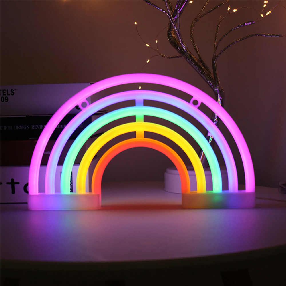 Led Rainbow Light Neon Sign Night Light Wall Hanging Rainbow Neon Light For Home Decoration Led Rainbow Lamp Christmas Decor Neon Bulbs Tubes Aliexpress