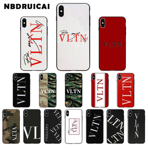 NBDRUICAI Luxury brand Italy VLTN High Quality Silicone Phone Case for iPhone 11 pro XS MAX 8 7 6 6S Plus X 5 5S SE XR case(China)