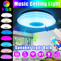 60W LED Full Color Ceiling Light with bluetooth Music Speaker Home RGB Dimmable Modern Music Ceiling Lamp APP Remote Control