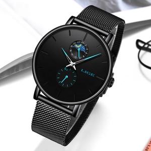 LIGE New Women Luxury Brand Watch Simple Quartz Lady Waterproof Wristwatch Female Fashion Casual Watches Clock reloj mujer 2020