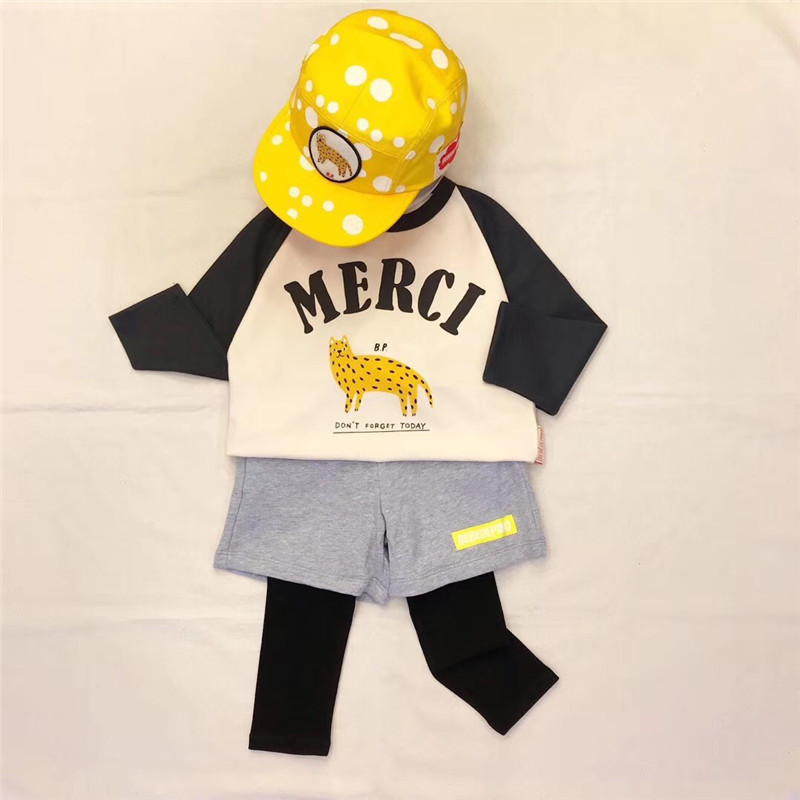 Image 3 - 2019 Bebe de Pi** Korean Baby Boys Girls Fall Clothes Toddler Long Sleeve TShirt Lovely Cartoon Letter Print Tops Baby Tshirt-in T-Shirts from Mother & Kids