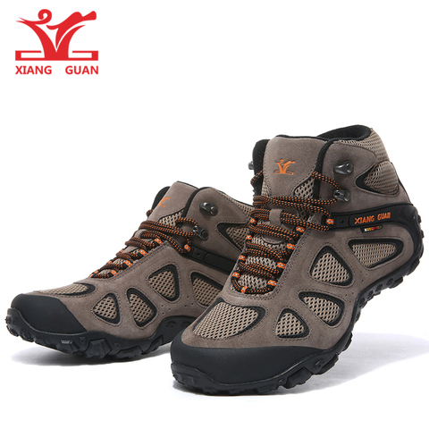 XIANGGUAN Hiking Shoes Men Outdoor Sneakers Shoes Unisex Boots Fishing Shoes New Popular Outdoor Shoes Men High Top Winter Boots Multan