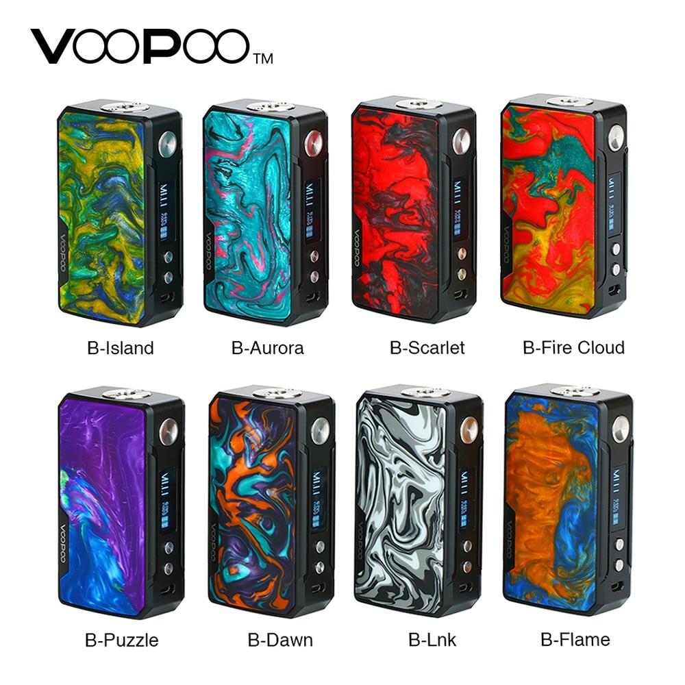 ¡En Stock! 177W VOOPOO arrastrar 2 Caja Mod potencia por batería 18650 cigarrillo electrónico Mod Vape Voopoo Mod Vs lujo Mod /Shogun Univ