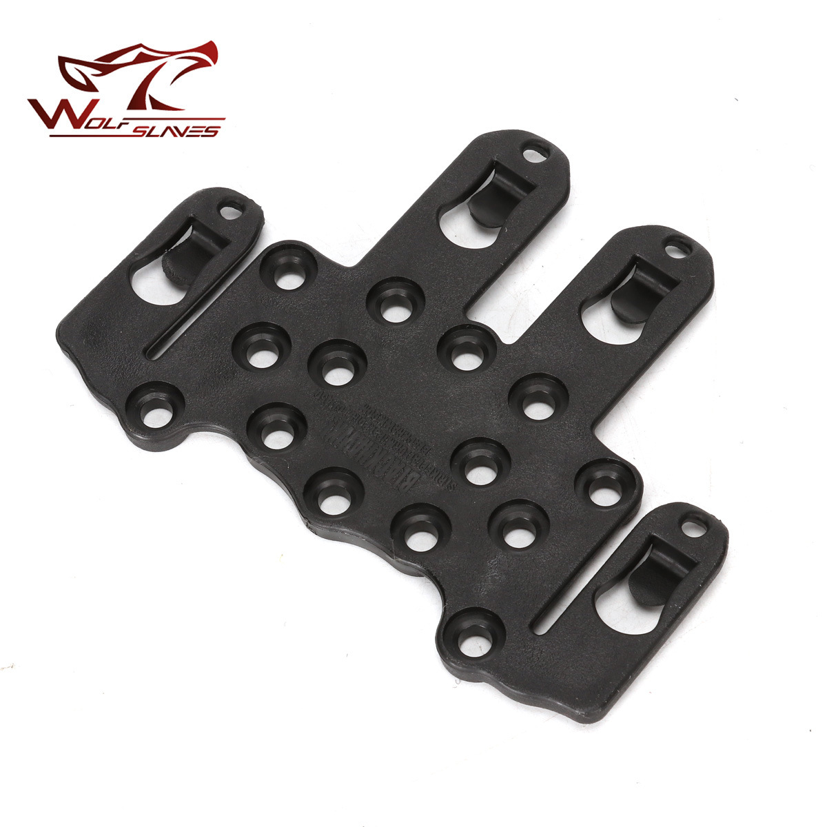 Tactical Molle Speed Clip Platform Ambidextrous Holster Rail Case Mount CQC Gun Holster Adapter Gun Accessories