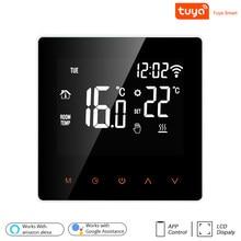 Tuya wifi inteligente termostato display lcd tela de toque para piso elétrico aquecimento água/caldeira gás temperatura controle remoto