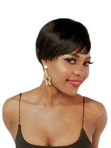 SSH Wigs Short Human-Hair Brown Straight Brazilian Women Non-Remy for Girl Wave No-Smell
