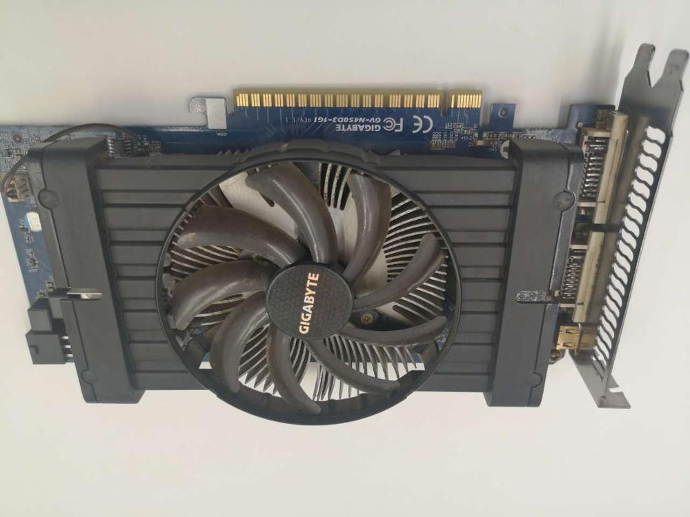Gigabyte GV-N450D3-1GI Graphics Cards 128 Bit GTS450 1G GDDR3 MiniHDMI DVI For Nvidia Geforce GTS <font><b>450</b></font> Original Used Video Card image