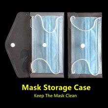 1pc portátil descartável máscara facial anti-poluição coleção saco proteção eficaz máscara salvar pasta produtos de armazenamento ao ar livre