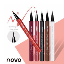 NOVO 6 Color Quick Dry Liquid Eyeliner Pencil Waterproof Eyebrow 12 Hours Long-lasting Sweatproof Eye Liner Pen Cosmetic TSLM1(China)