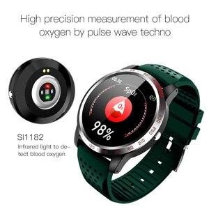 "Image 5 - W3 ECG + HRV + SPO2 ساعة ذكية IP67 مقاوم للماء Lorenz الرسم البياني معدل ضربات القلب ضغط الدم شاشة عرض نسبة الأكسجين في الدّم 1.3 ""أسورة ساعة ذكية"