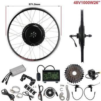 $10 cupón 48V 1000W Kit de conversión Ebike 26 trasero Motor de cubo sin escobillas de la rueda de bicicleta impermeable conector E Kit para Motor de bicicleta