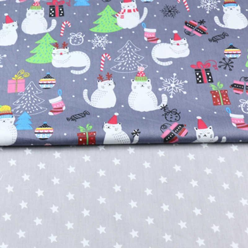 Boże narodzenie bałwan gwiazdy wydrukowane 100% metrów tkaniny bawełnianej na sukienki poduszki koc szycie ubrań prześcieradło tekstylne