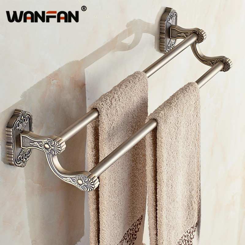 Antique Br Towel Bars Wall Mounted