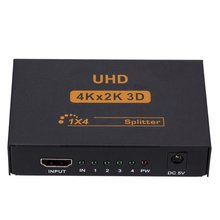 Amplify-Converter Splitter-Adapter for 1X4 Hub-Repeater Uk-Power 3D Hdmi-Compatible 4-Ports