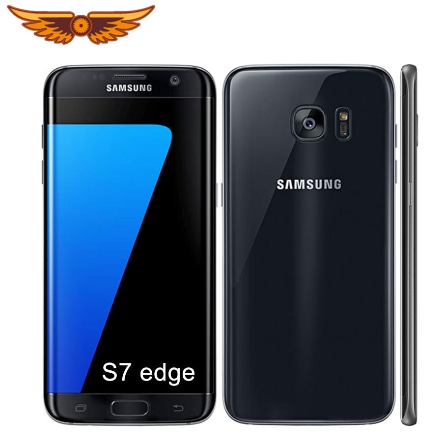 Samsung Galaxy S7 edge Оригинальный разблокированный G935V/G935F 5,5 дюймов 4 Гб ОЗУ 32 Гб ПЗУ 12 МП четырехъядерный LTE 4G бывший в употреблении сотовый телефон