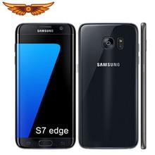 Samsung Galaxy S7 rand Original Entsperrt G935V/G935F 5,5 Zoll 4GB RAM 32GB ROM 12MP Quad-core LTE 4G Verwendet Handy