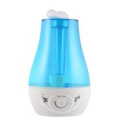 Trwały ultradźwiękowy nawilżacz powietrza cool mist Whisper cichy z oświetlenie nocne led 3 litrowa pojemność z całym domem nawilżacz KLS 025|Nawilżacze powietrza|   -