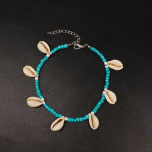 Vintage green beads Color Anklets For Women Bohemian Anklet Bracelet 2019 DIY Boho Jewelry