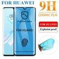 Изогнутая мягкая керамическая защита экрана для Huawei P30 Pro Mate 30 P20 Pro P40 Pro Mate30 Pro Mate20 Pro PMMA + пэт закаленное стекло