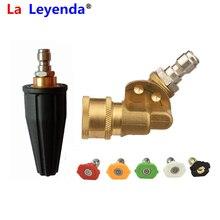 """LaLeyenda – lave auto, raccord rapide, coupleur pivotant 1/4 """", 5 buses de pulvérisation, Lance en laiton"""