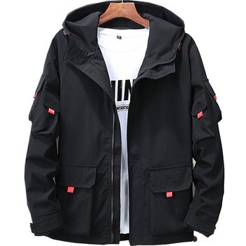 Men's Coat Fat Oversized Jacket Student Youth Jacket Large Black Casual Loose Yellow Jackets Vintage Fur Collar Military GG50jk