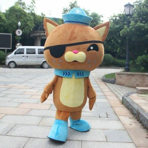 L'équipage Octonauts ours polaire Police film mascotte Costume carnaval dessin animé Cosplay déguisement défilé publicité personnage