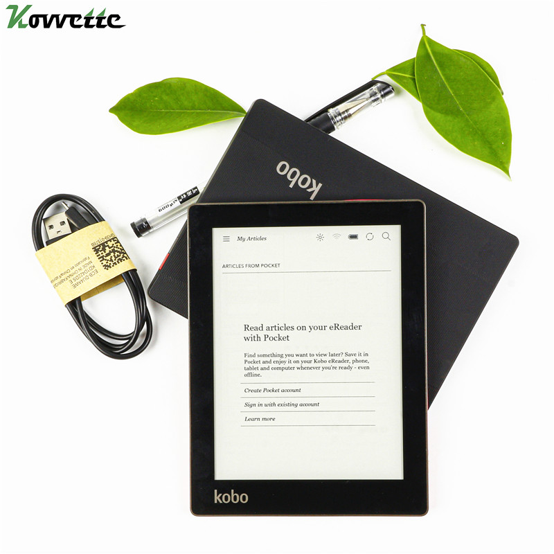 Электронная книга Kobo Aura N514, 6 дюймов, разрешение 1024x758, электронные чернила, встроенная фара, устройство для чтения электронных книг, Wi-Fi, памя...