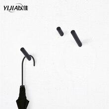 Черный твердая древесина крючок стена вешалка пальто крючок односпальная спальня гостиная комната вешалка