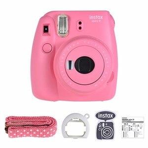 Image 3 - هدية مجانية جديدة من Fujifilm InstaxMini 9 لكاميرا بولارويد InstantPhoto كاميرا تصوير FilmPhoto 5 ألوان كاميرا تصوير فورية