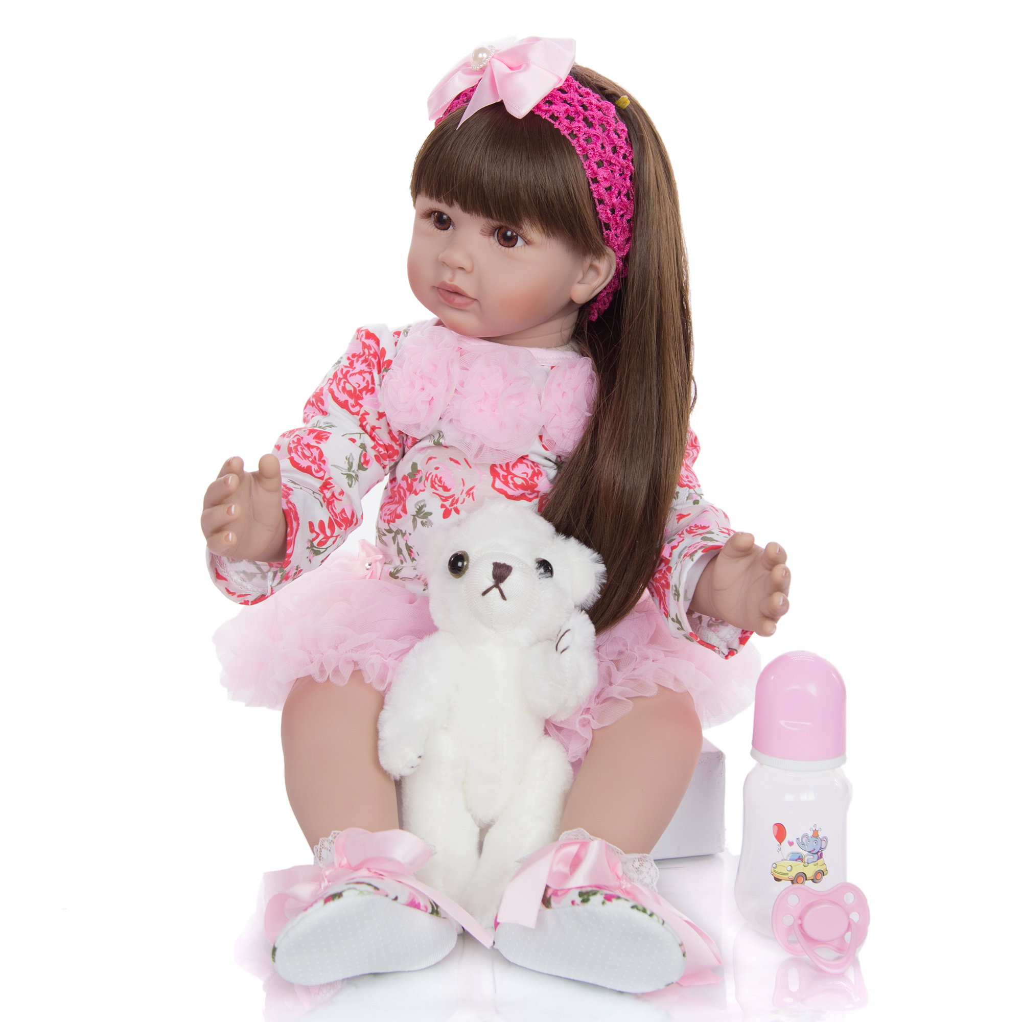60 см тканевая виниловая Кукла Reborn, игрушки для девочек, изысканная кукла принцессы, детская игрушка для детей, подарок на день рождения, игру...