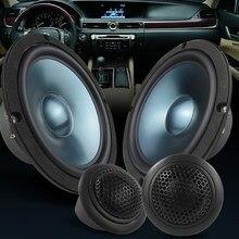 1 conjunto carro subwoofer porta do veículo auto tweeter música estéreo amplificador de som agudos chifre freqüência alto falantes alta fidelidade áudio para bmw e60