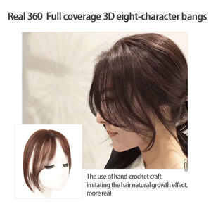 Image 3 - MUMUPI Long Clip In Front Hair Bang Side Fringe Hair Extension Real Synthetic hair 3D Middle Part Bangs Hair Piece